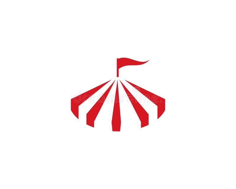 Plantilla del logotipo del circo libre illustration