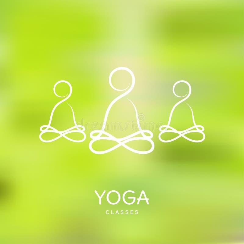 Plantilla Del Logotipo - Clases De La Yoga Stock de ilustración ...