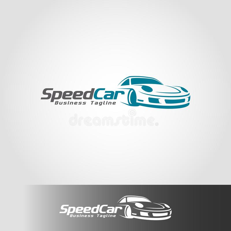 Plantilla del logotipo del coche de la velocidad ilustración del vector