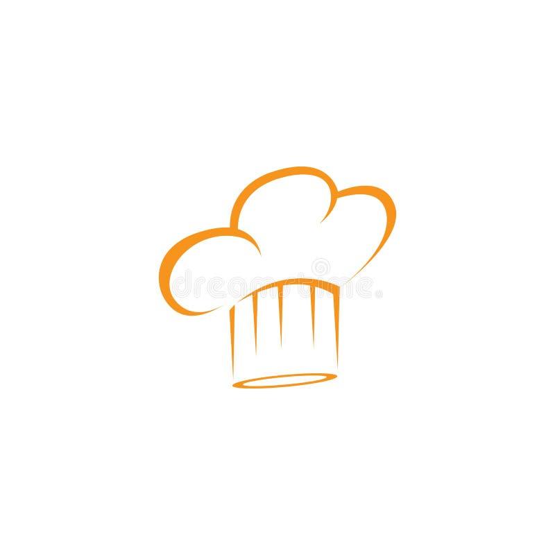plantilla del logotipo del cocinero del sombrero ilustración del vector