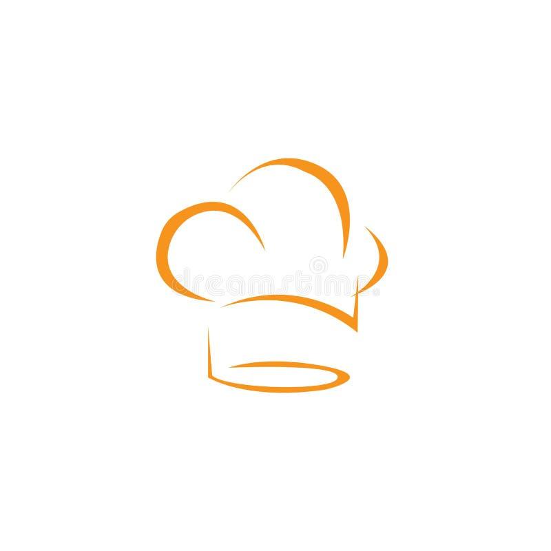 plantilla del logotipo del cocinero del sombrero stock de ilustración