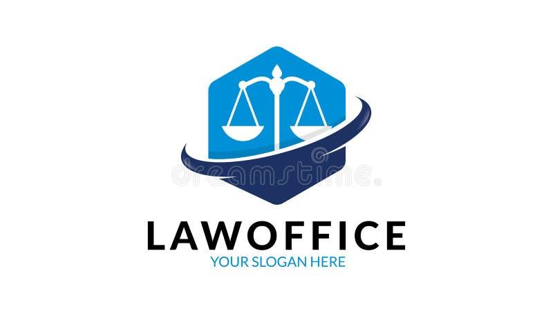 Plantilla del logotipo de la asesoría jurídica ilustración del vector