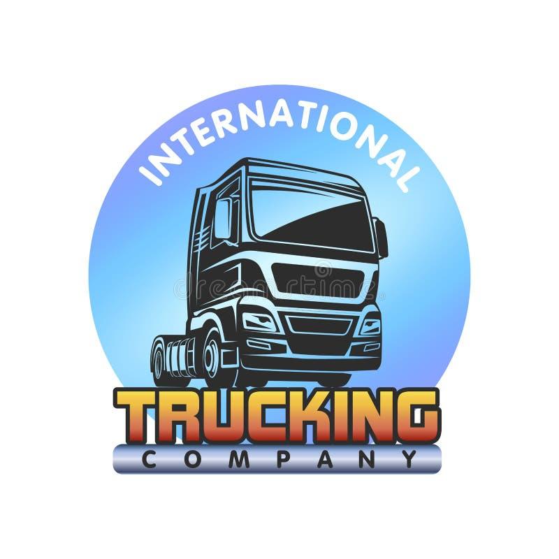 Plantilla del logotipo de la carga del cargo del camión stock de ilustración