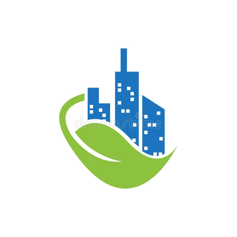 Plantilla del logotipo de la casa de la naturaleza de las propiedades inmobiliarias ilustración del vector