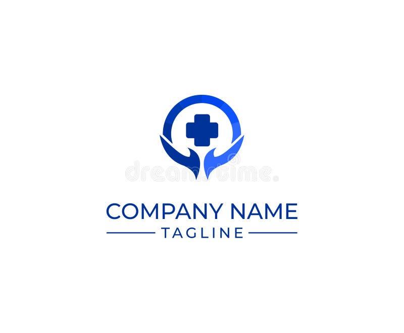 Plantilla del logotipo de la clínica de la salud y de la atención sanitaria foto de archivo