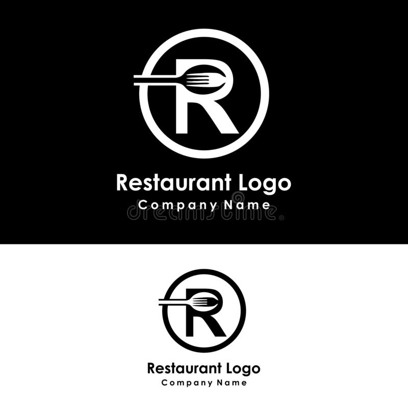 plantilla del logotipo de la comida del restaurante, vector del diseño, icono ilustración del vector