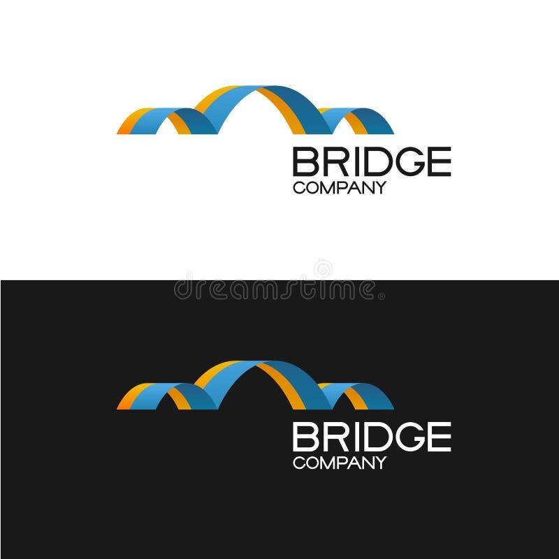 Plantilla del logotipo de la compañía del edificio de puente ilustración del vector