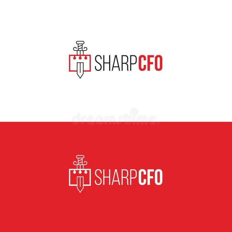 Plantilla del logotipo de la contabilidad Emblema companny financiero ilustración del vector