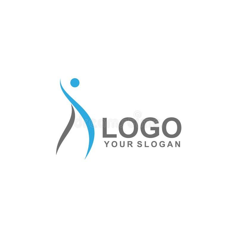 plantilla del logotipo de la gente, vector sano del diseño, eco ilustración del vector