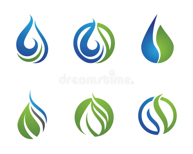 Plantilla del logotipo de la gotita de agua libre illustration
