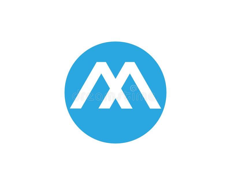 plantilla del logotipo de la letra de m libre illustration