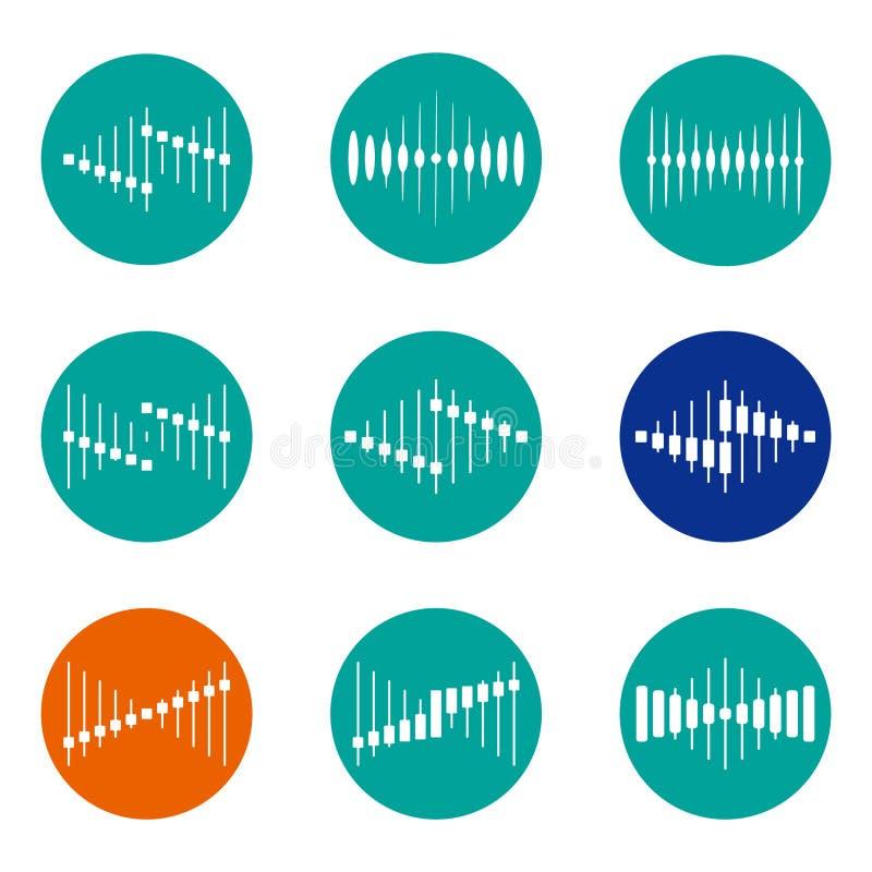 Plantilla del logotipo de la onda del vector del diseño stock de ilustración