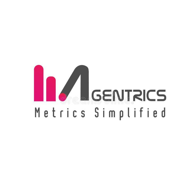Plantilla del logotipo de la palabra de la métrica de Magentrics stock de ilustración