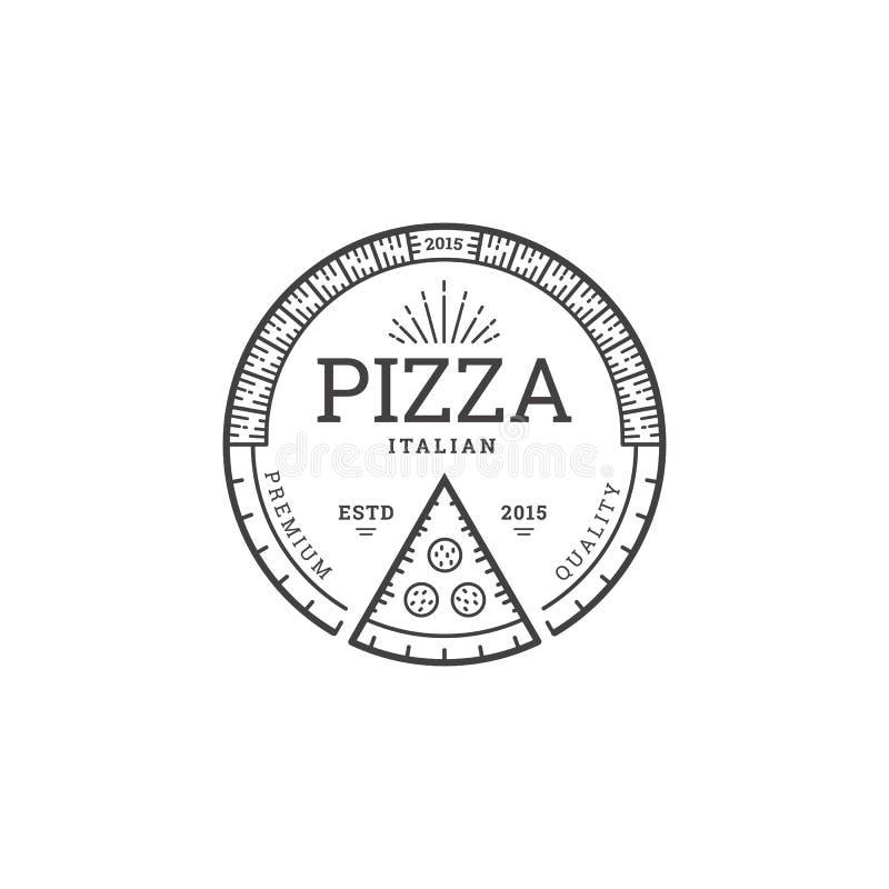 Plantilla del logotipo de la pizza stock de ilustración