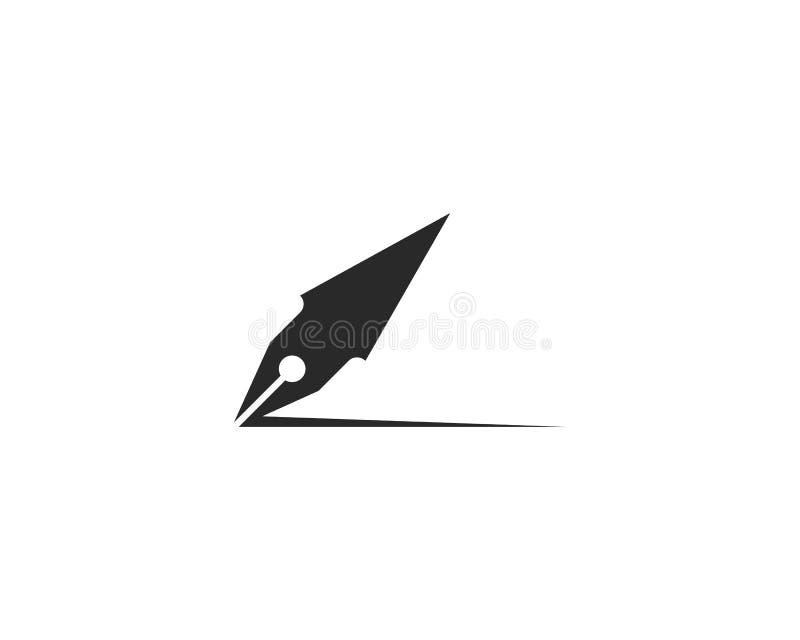 plantilla del logotipo de la pluma ilustración del vector
