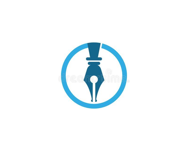 plantilla del logotipo de la pluma libre illustration