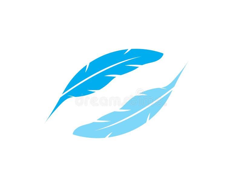 Plantilla del logotipo de la pluma de la pluma libre illustration