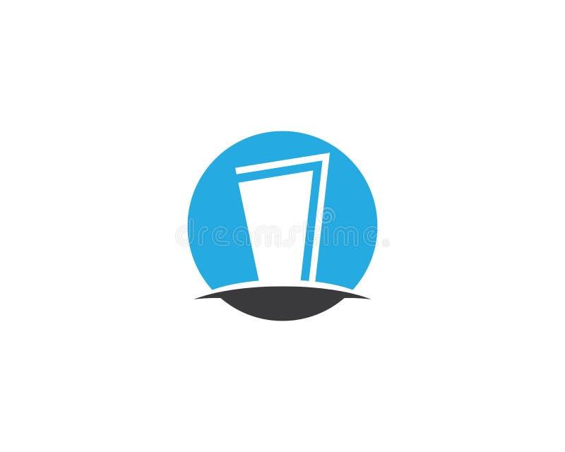 Plantilla del logotipo de la puerta ilustración del vector