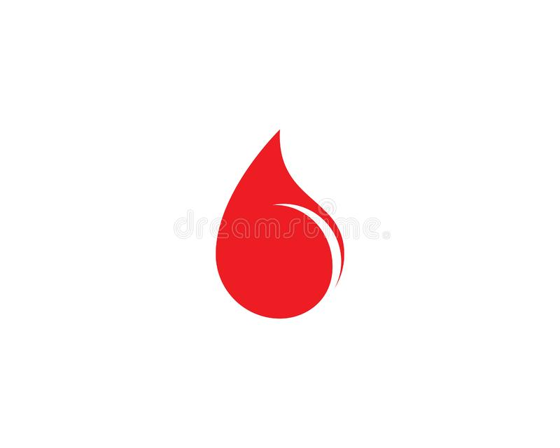Plantilla del logotipo de la sangre stock de ilustración