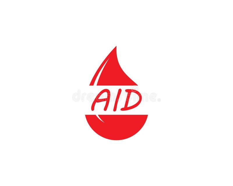 Plantilla del logotipo de la sangre libre illustration