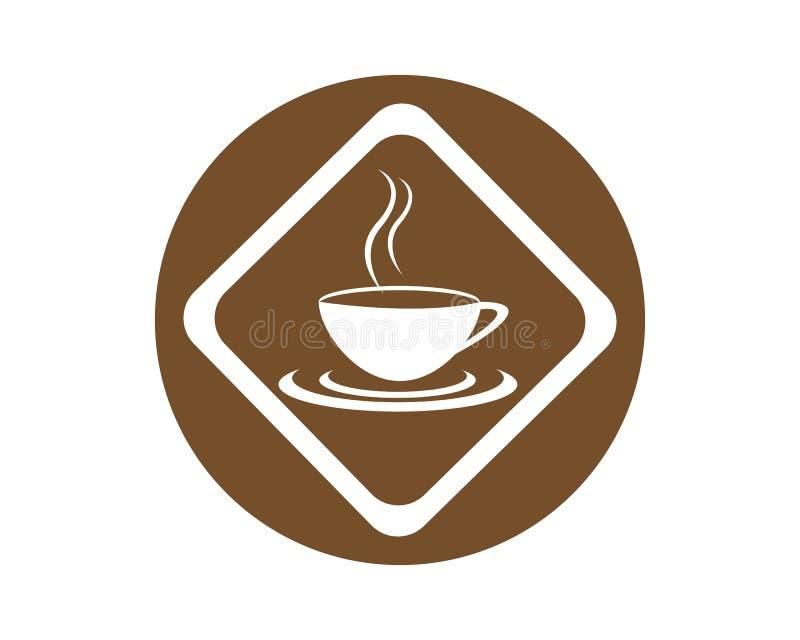 Plantilla del logotipo de la taza de caf? libre illustration