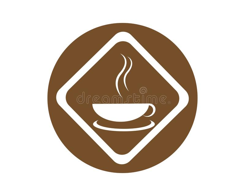 Plantilla del logotipo de la taza de caf? ilustración del vector