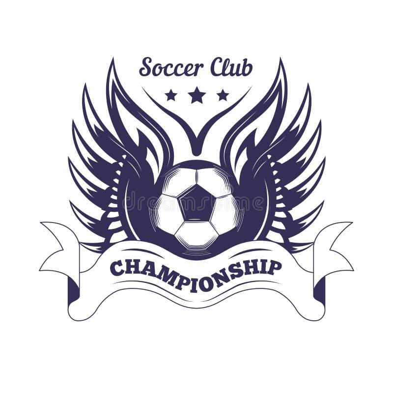 Plantilla del logotipo de la taza del campeonato del club o de la liga de fútbol del fútbol stock de ilustración