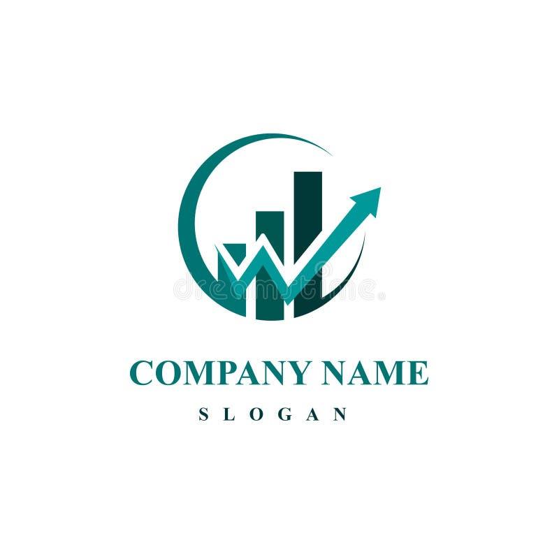 Plantilla del logotipo de las finanzas del negocio - vector el ejemplo del concepto