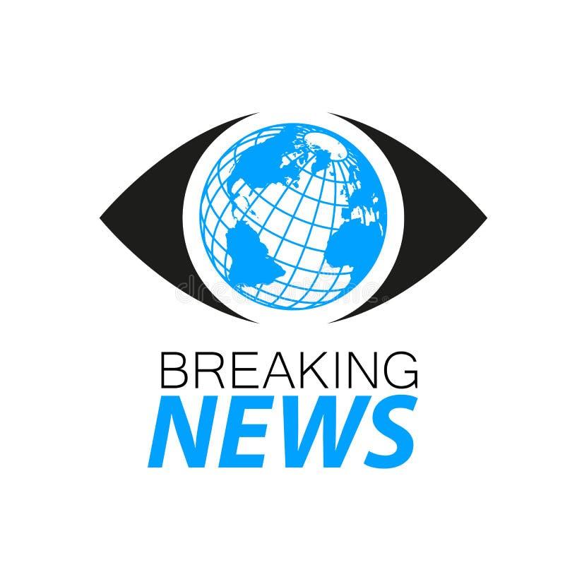 Plantilla del logotipo de las noticias de última hora stock de ilustración
