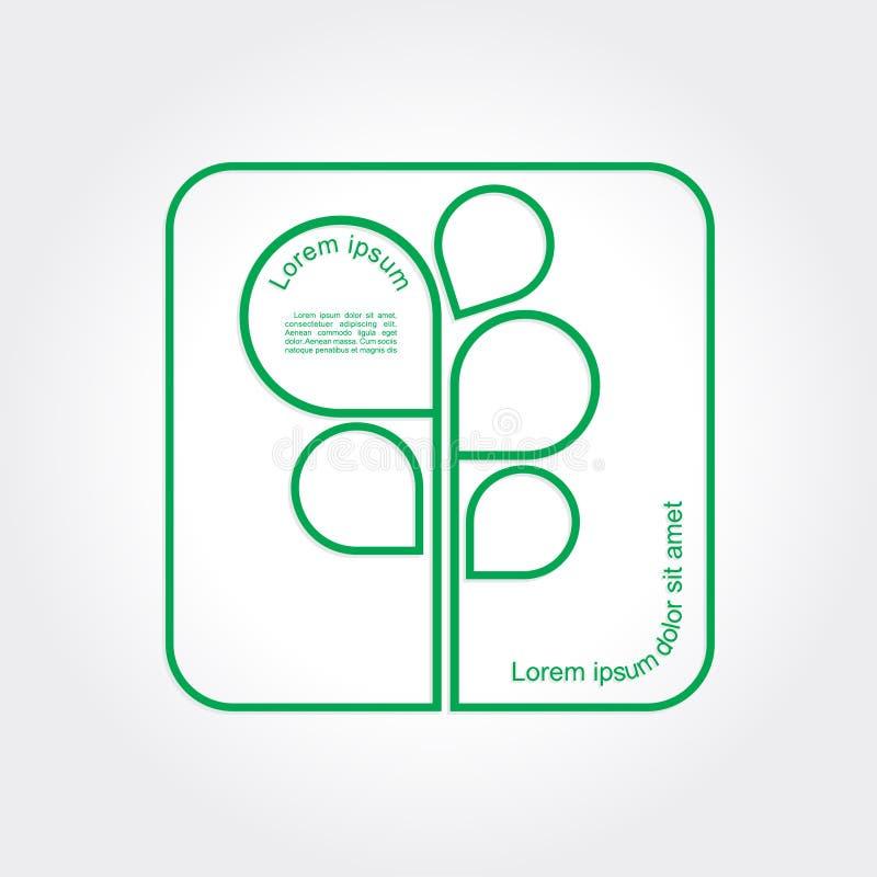 Plantilla del logotipo del árbol del verde de Eco. Vector stock de ilustración