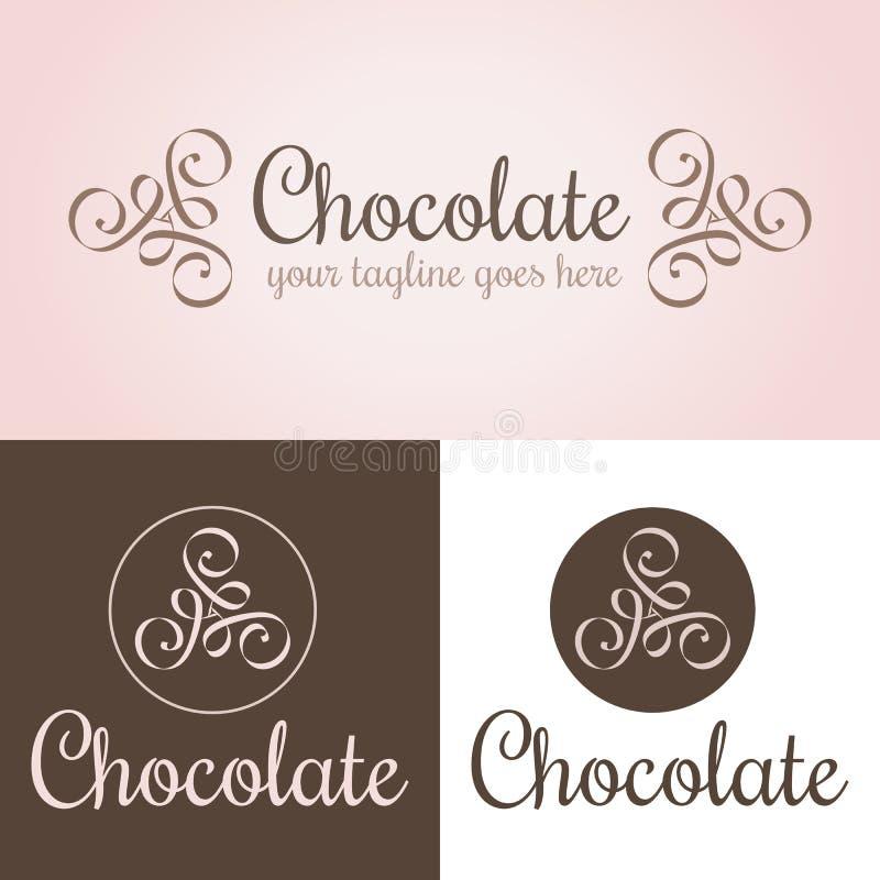 Plantilla del logotipo del chocolate libre illustration