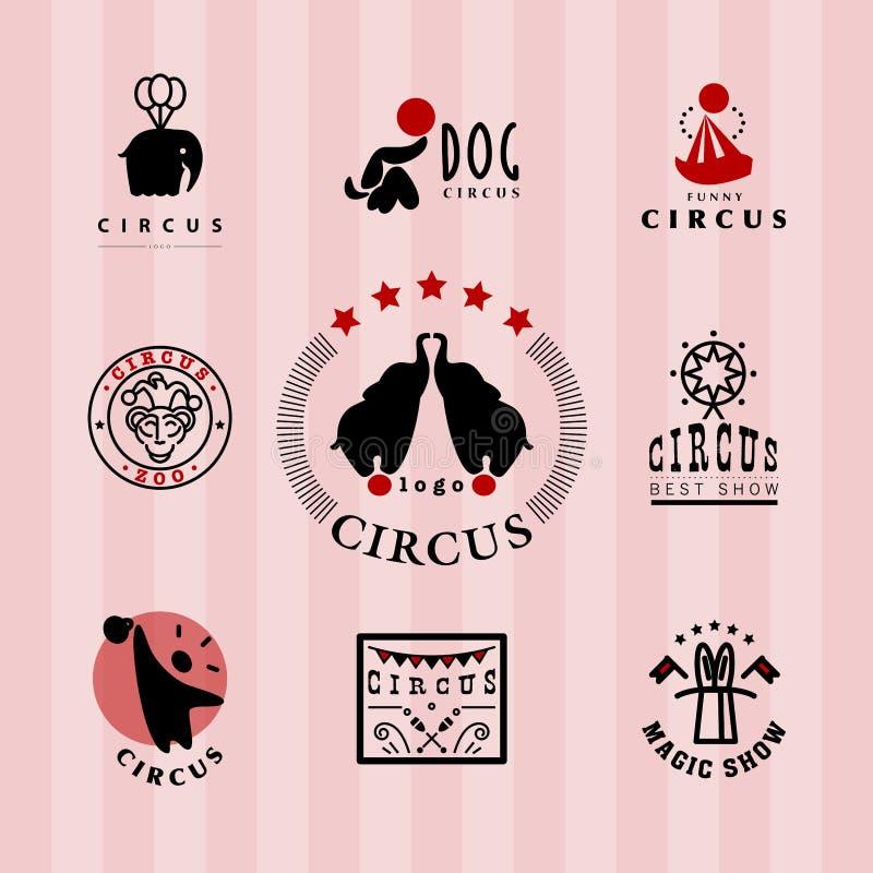 Plantilla del logotipo del circo del vector stock de ilustración