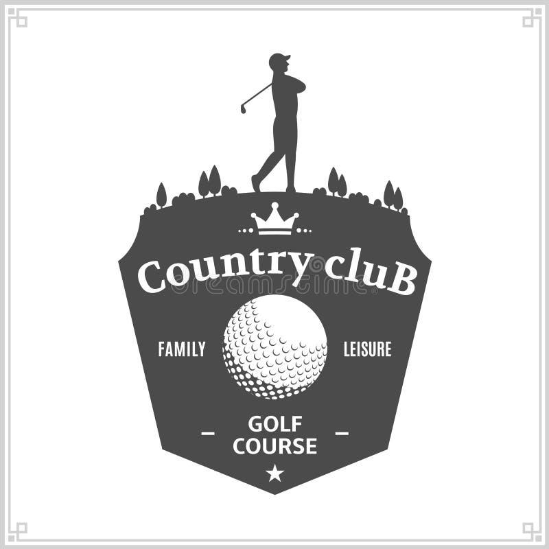 Plantilla del logotipo del club de campo del golf libre illustration