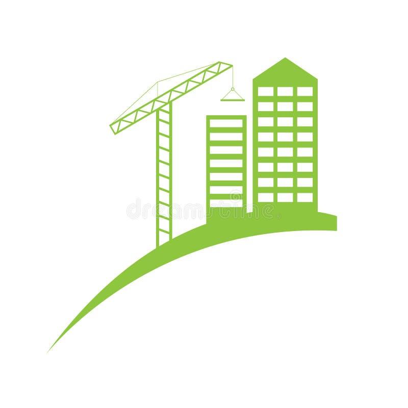 Plantilla del logotipo del símbolo de la construcción de las propiedades inmobiliarias libre illustration