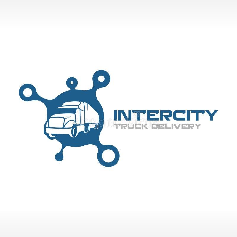 Plantilla del logotipo del servicio del camión de reparto ilustración del vector
