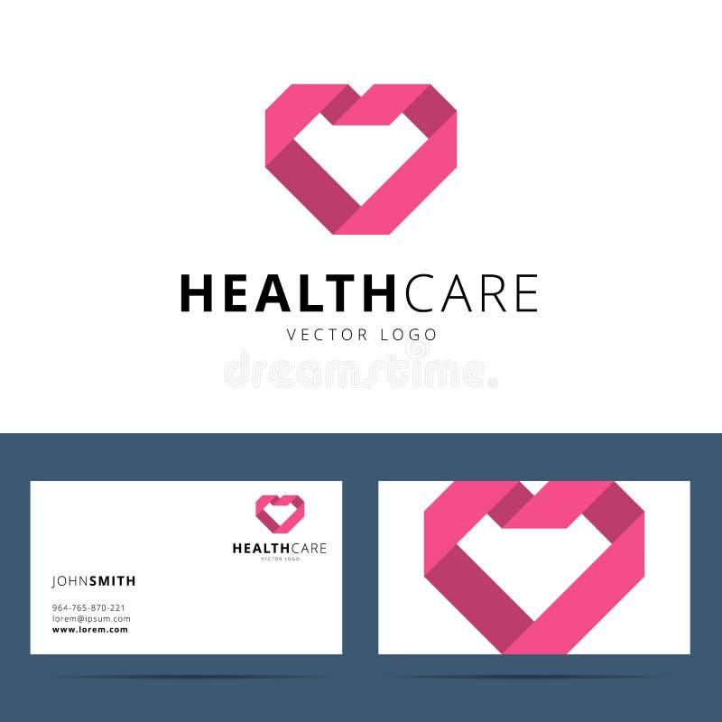 Plantilla del logotipo del vector de la atención sanitaria ilustración del vector
