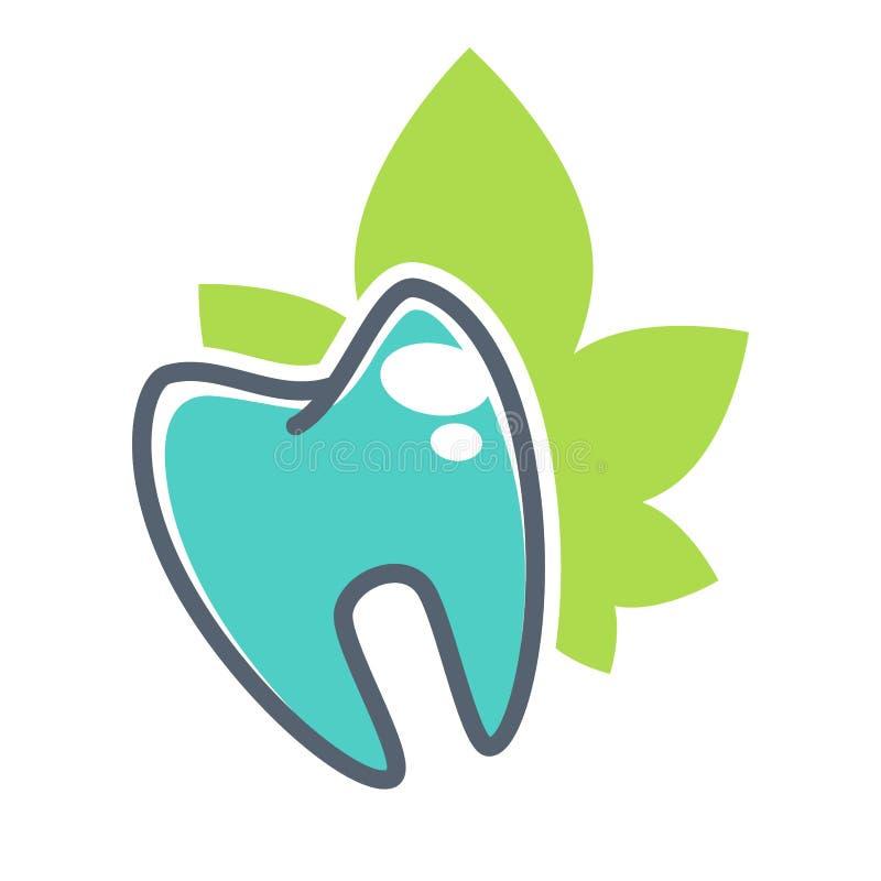 Plantilla del logotipo del vector del diente para la odontología o los productos dentales de la clínica y de la salud Icono del v ilustración del vector
