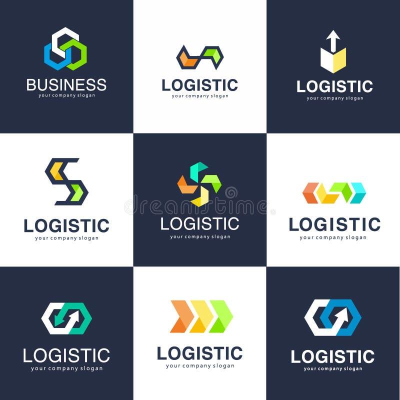 Plantilla del logotipo del vector para la logística y la empresa de distribución Logotipo del negocio ilustración del vector