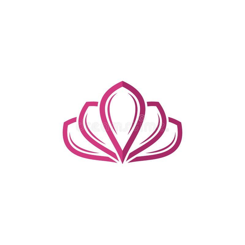 Plantilla del logotipo del dise?o de las flores de Lotus del vector de la belleza stock de ilustración
