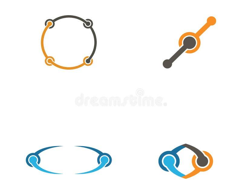 Plantilla del logotipo del ejemplo del icono del vector del dise?o de la unidad del infinito libre illustration