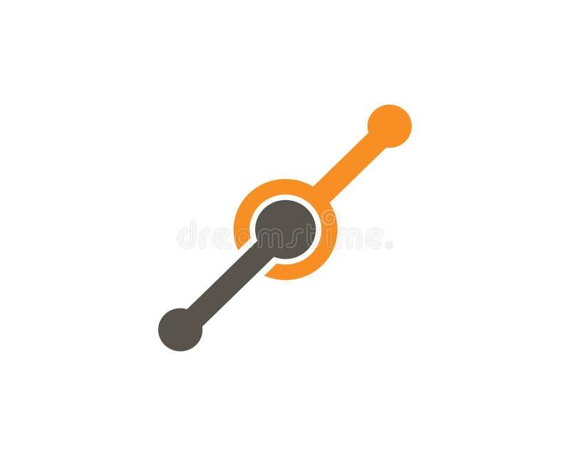 Plantilla del logotipo del ejemplo del icono del vector del dise?o de la unidad del infinito stock de ilustración