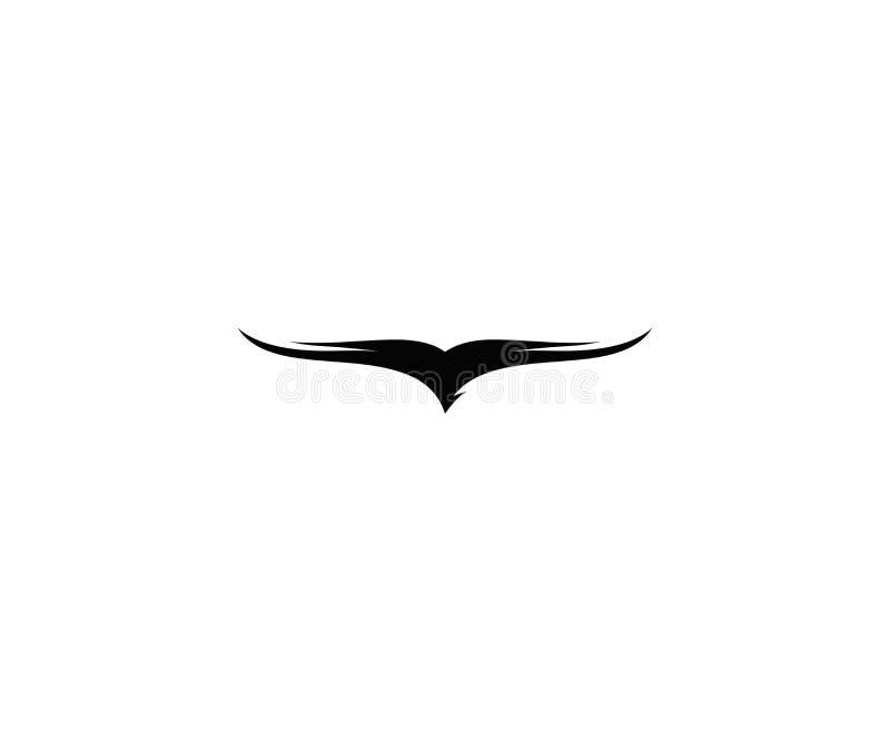 Plantilla del logotipo del halcón del vuelo Diseño del vector de la silueta de Eagle libre illustration