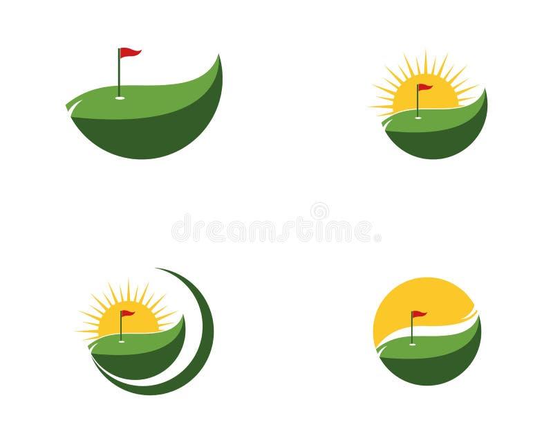 Plantilla del logotipo del icono del golf stock de ilustración