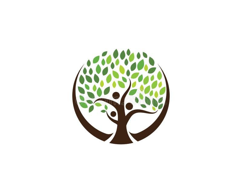 plantilla del logotipo del ilustration del árbol de familia stock de ilustración
