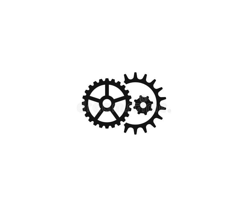 Plantilla del logotipo del mecanismo de la rueda dentada Diseño del vector de la ingeniería libre illustration