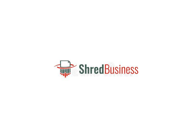 Plantilla del logotipo del negocio del shreder del fichero foto de archivo libre de regalías