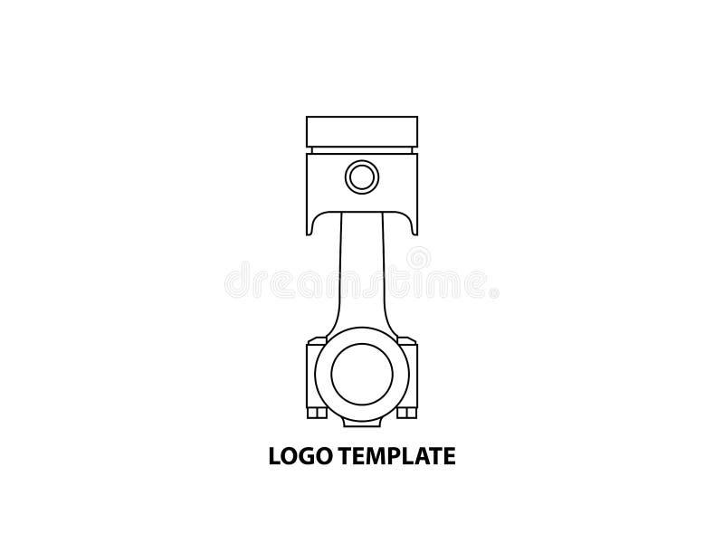 Plantilla del logotipo del pist?n stock de ilustración