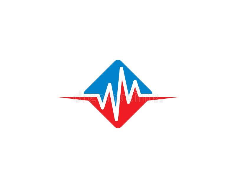 Plantilla del logotipo del pulso libre illustration