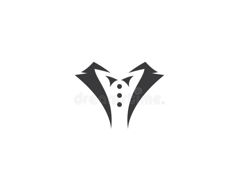 Plantilla del logotipo del smoking ilustración del vector