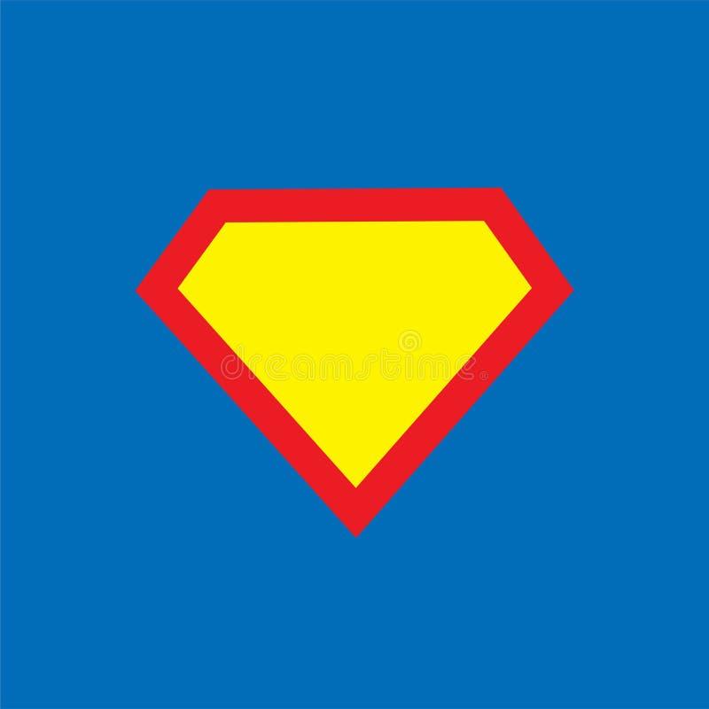 Plantilla del logotipo del super héroe ilustración del vector